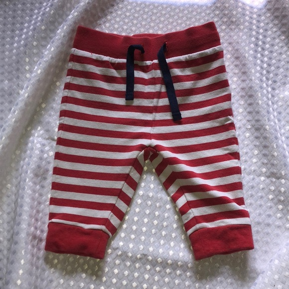 Red And White Stripe Baby Boden Joggers